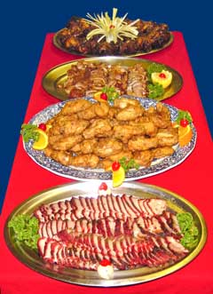 Chinese catering food