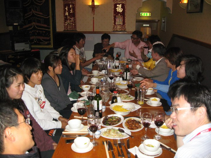 Chinese Food Restaurant - Group photo at table